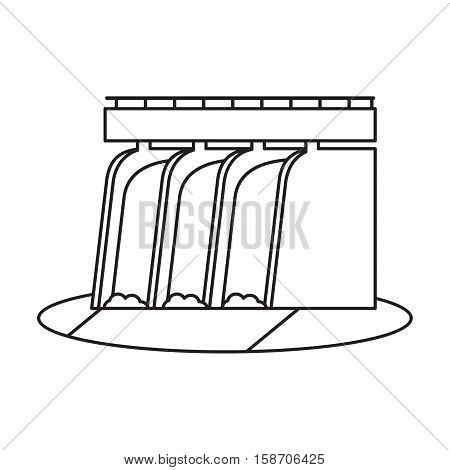 hydroelectric station plant water dam pictograph vector illustration eps 10