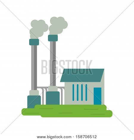 industrial factory buiding pollution symbol vector illustration eps 10