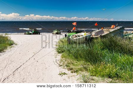 Image symbolizing a small cooperative fisheries at the Baltic Sea