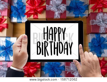 Happy Birthday  Celebration Congratulation Party  Hbd Birthday Greeting Card , Very Happy Happy Birt