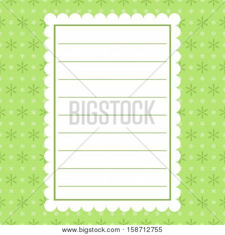 Template frame design for xmas card. Vector image.