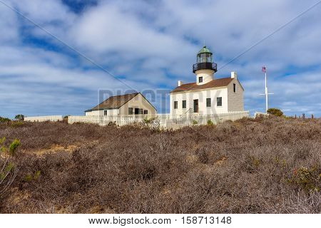 Old Loma Point Lighthouse in San Diego, CA.
