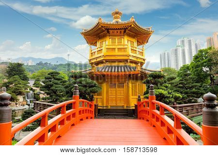 The Pavilion of Absolute Perfection in the Nan Lian Garden, Hong Kong, China