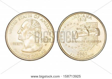 Quarter Dollar Isolated