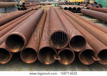 Oil And Gas Offshore Industry Pipe Work