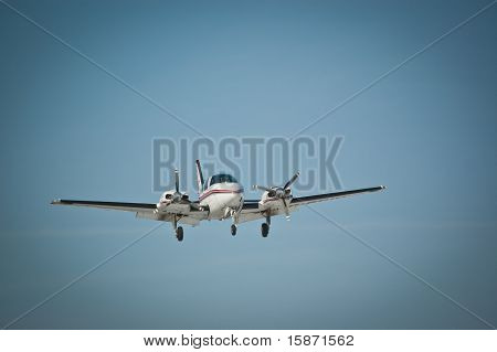 Twin Engine Aircraft In Flight