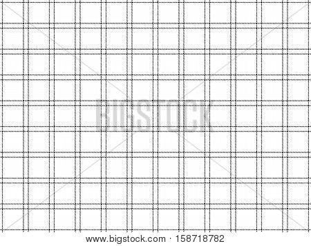 Check fabric black white seamless background. Vector illustration.