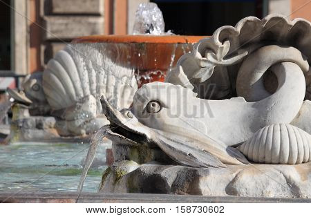 Fountain of Colonna Square in Rome, Italy