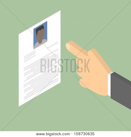 Search employee. Search for African-American men. Summary. Vector isometric
