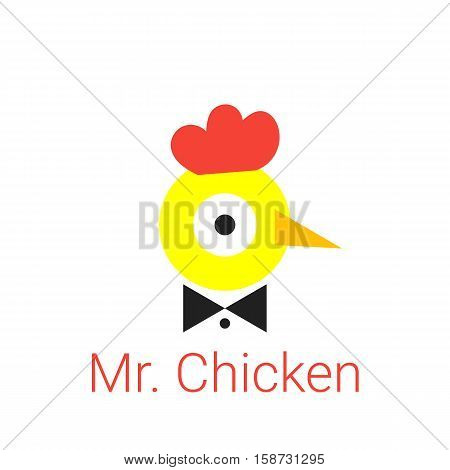 Young Chick Logo With The Text Of Mr. Chicken