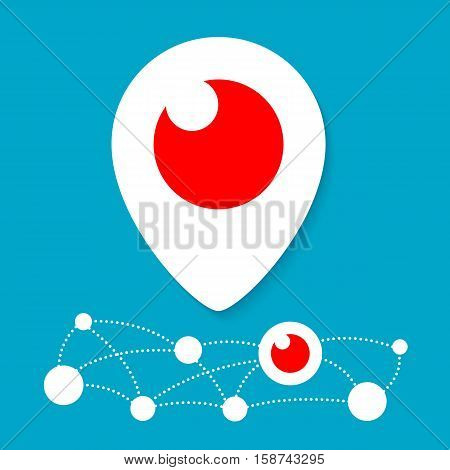Periscope Icon. Vector Illustration. Different colors isolated