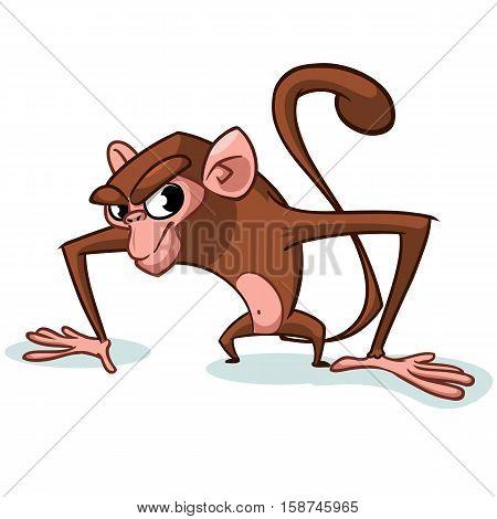 Cheeky Monkey Character icon. Vector mascot cartoon