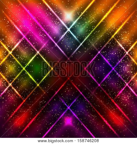 Abstract Background With Shining Magic Lights