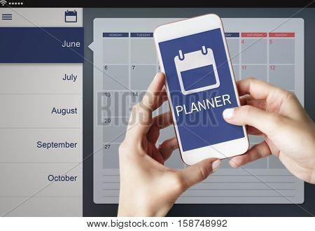 Appointment Agenda Reminder Personal Organizer Calendar Concept