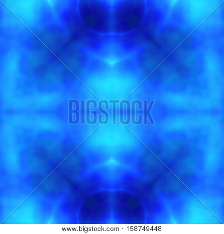 Abstract inner eye or blue chakra image or spiritual background