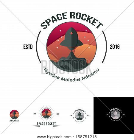 space rocket logo suitable for any modern business area, start up, modern, young, booster, online or fast business things
