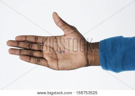 Human Hand Sign Body Language Love Concept