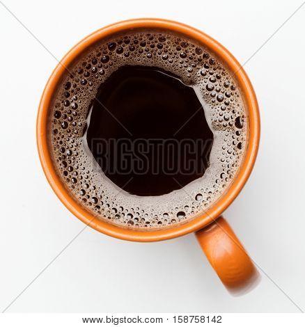 mug of coffee on white background