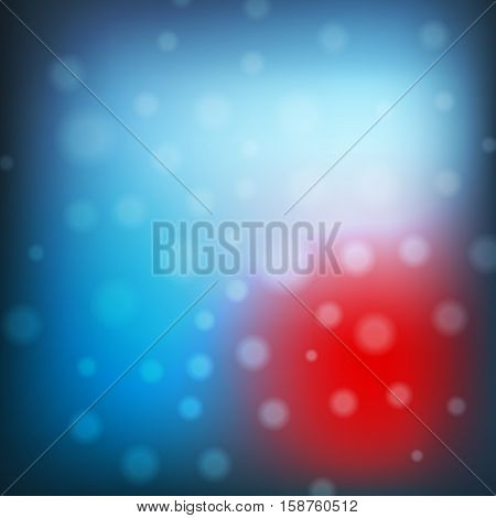 Blue Christmas Background With Lights. Abstract Vector Illustration. Decorative Background For Holid