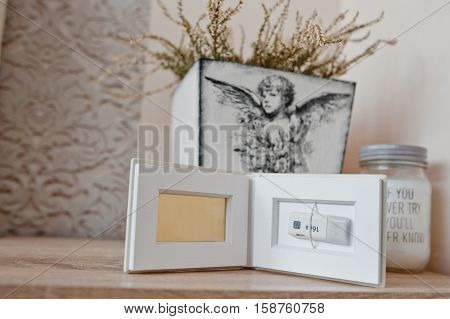 White Classic Photo Flash Box Of Flash Drive Inside On 16 Gb Usb 3.0