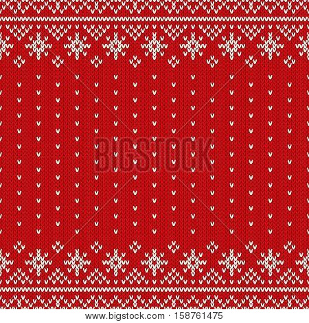 raditional Fair Isle Style Seamless Knitted Pattern. Christmas and New Year Design Background with a Place for Text