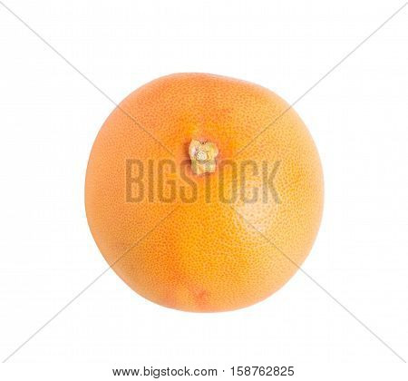 Closeup of fresh grapefruit. Isolated on a white background.