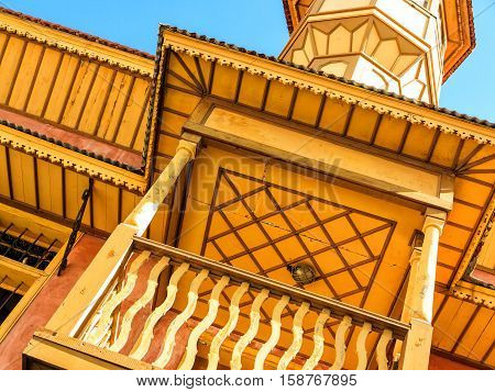 Mehmet Aga Mosque -This little yellow Mosque looks different from all other Mosques, it is situated in center of the main shopping Socratous Street in Old Town of Rhodes Island, Greece