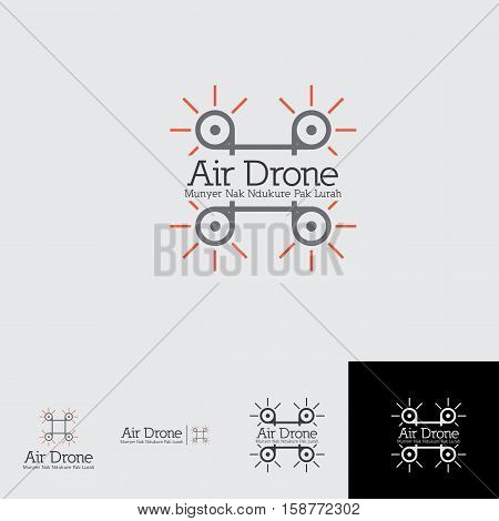 air drone logo concept for any drone rent, drone shop or others drone business area