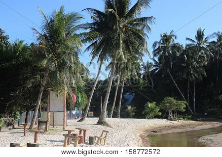 relaxing holidays in tropical paradise. Palawan, Philippines