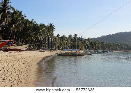 beautiful tropical beach - Port Barton, Palawan, Philippines