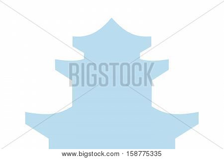 Vector illustration of buddhism temple vector eps 10 background