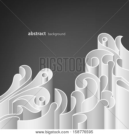 Abstract background of white elements. Vector illustration