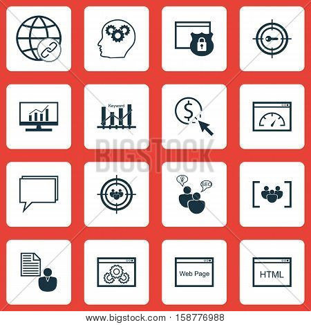 Set Of Marketing Icons On Market Research, Keyword Optimisation And PPC Topics. Editable Vector Illustration. Includes Ranking, Online, Web And More Vector Icons.