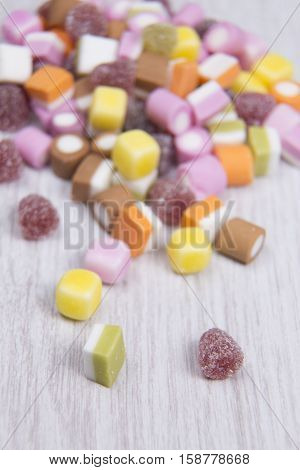 Sweets Poured Onto A Table