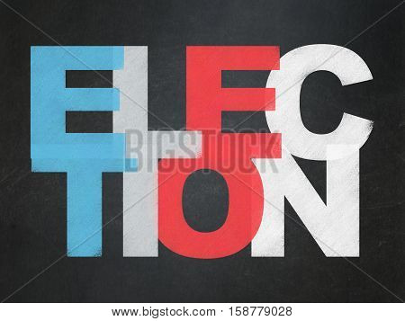 Political concept: Painted multicolor text Election on School board background, School Board