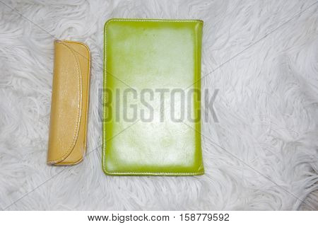 Ebook And Glass Case On Fur