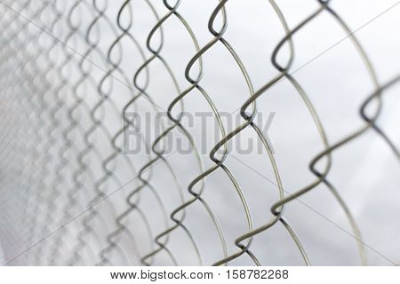 close up chain link net for fence outdoor photo