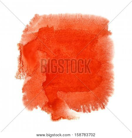 Red watercolor blot - space for your own text