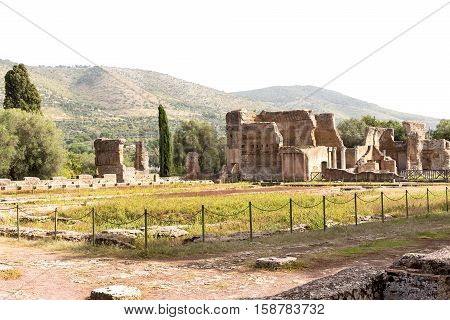 Hadrian villa, adriana is a large roman archaeological complex at tivoli, Italy