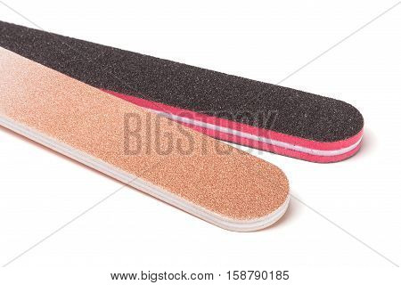 two nail file isolated on a white background.