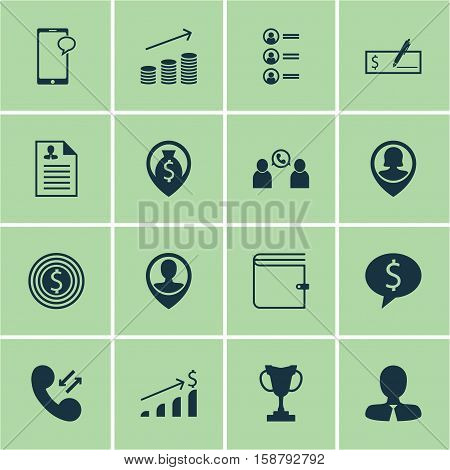 Set Of Management Icons On Phone Conference, Pin Employee And Manager Topics. Editable Vector Illustration. Includes Increase, Applicants, Coins And More Vector Icons.