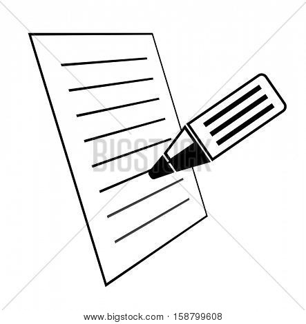 document with pencil 3d icon