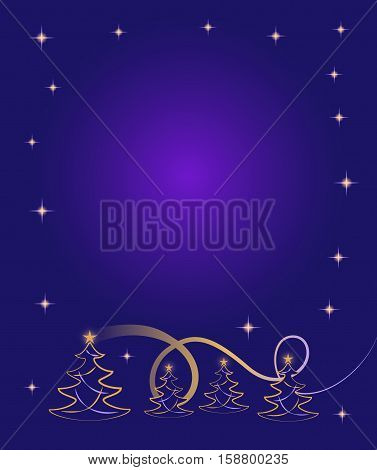 Decorative Christmas border with space for a message