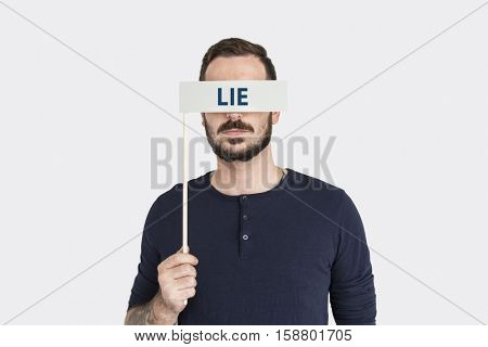 Lie Fake Cheat Word Concept