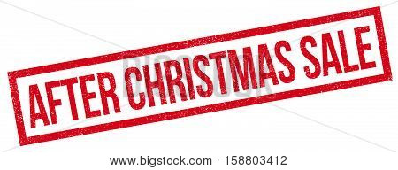 After Christmas Sale Rubber Stamp