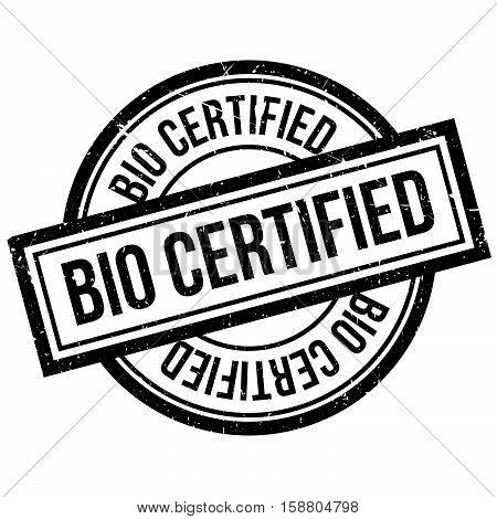 Bio Certified Rubber Stamp