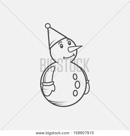 snowmen isolated on white background. Cute cartoon snowmen in vector for winter design