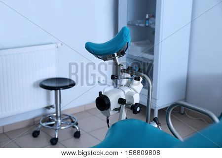 Gynecological room with equipment