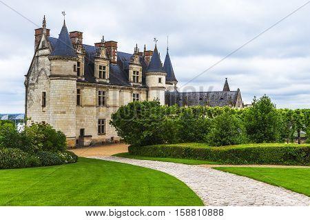 AMBOISE,FRANCE-JUNE 2016: View on the Amboise castle