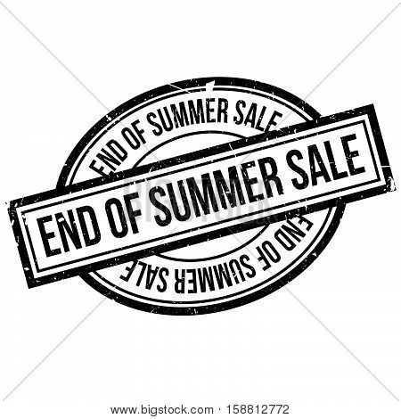 End Of Summer Sale Rubber Stamp